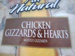 CHICKEN GIZZARDS & HEARTS: MOSTLY GIZZARDS