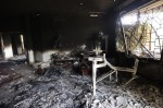 """A picture shows the interior of the burnt US consulate building in Benghazi"""