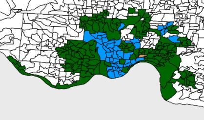 2013 Cincinnati election map