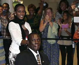 Meriam Ibrahim and her husband, Daniel Wani
