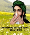 Muhammad suffers from Allah-gies