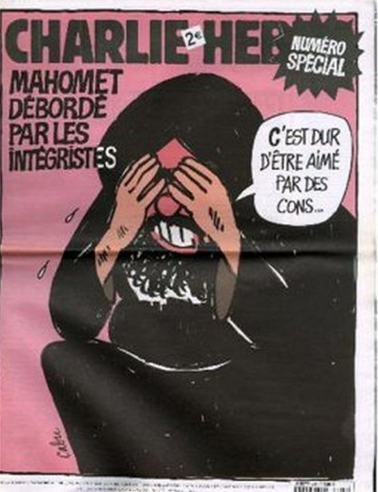 Charlie Hebdo: Mohammed: It's hard to be loved by (vulgar word for idiots)