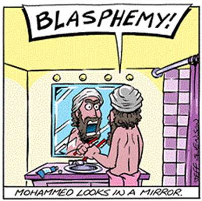 Mohammed looks in the mirror