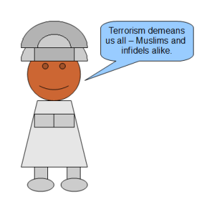 "Mohammed: ""Terrorism demeans us all--Muslims and infidels alike."""
